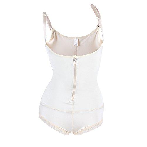 [FeelinGirl Women's Strapless Firm Body Control Bodysuit Latex Full Body Shaper Thigh Slimmer Shapewear with] (Slimer Costume Plus Size)