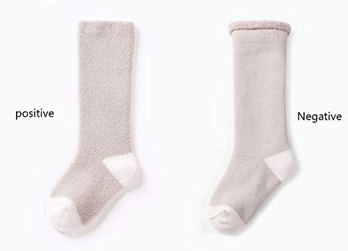 CMDDYY Calcetines de beb/é Espesamiento de algod/ón m/ás Terciopelo c/álido beb/é Medias sobre la Rodilla reci/én Nacidos Calcetines de Toalla de Pierna Larga,S