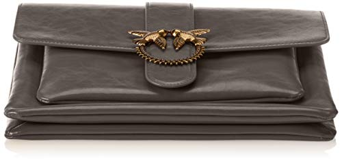 Vitello Gris Pinko épaule Vintage Love Big Vintage portés Sacs Corvo Grigio t8wa86q