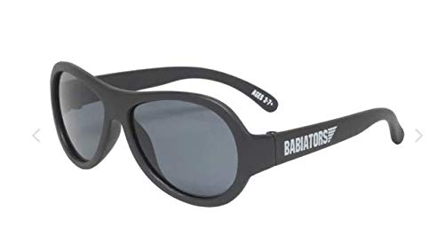 Babiators Gift Set, UV Protection Childrens Black Ops Black Sunglasses & Awesome Cloud Case, 3-7 Years