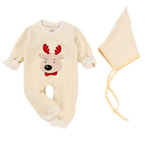 G-Real Baby Boys Girl Christmas G-Real Rabbit Hoodie Cartoon Romper+Hat Jumpsuit Outfits
