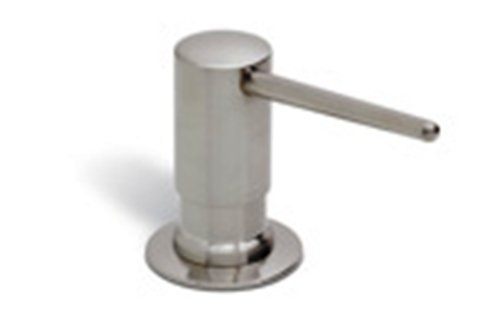 Rohl LS750LSTN Luxury De Lux Shrouded Soap/Lotion Dispenser with 3-1/2-Inch Reach and One Touch System in Satin Nickel