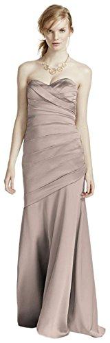 Long Strapless Stretch Satin Bridesmaid Dress Style F15586 – 4, Biscotti