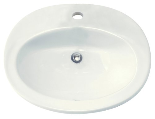 American Standard 0478.001.020 Piazza Vitreous China Countertop Sink with Single Hole Faucet Drilling, White