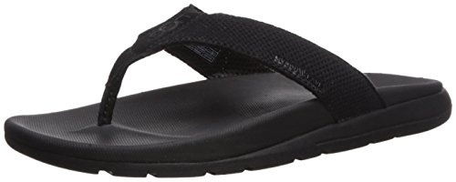 UGG Men's Tenoch Hyperweave Flip-Flop, Black, 11 M US