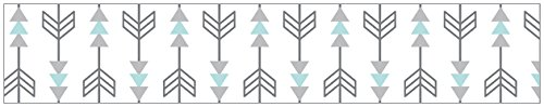 Turquoise Blue and Gray Earth and Sky Nature Birds Arrows Kids and Baby Modern Wall Paper Border