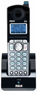 Phone Handset, 6.0, f/2-Line Cordless Sys., Trilingual, Black (RCAH5250RE1) Category: Telephone Handsets by RCA