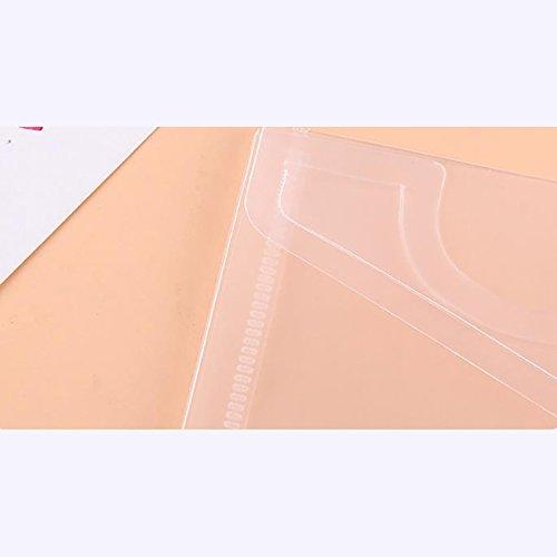 4/X milopon documento tasche di cartelle Mappe visione tasche con zip impermeabile per carta A4/Documenti PP