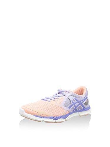 Asics 33-DFA, Chaussures de Fitness Femme Orange / Argent / Lilas