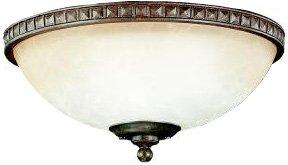 Kichler 380007TZ, Cortez Bowl Light Fixture, Tannery Bronze