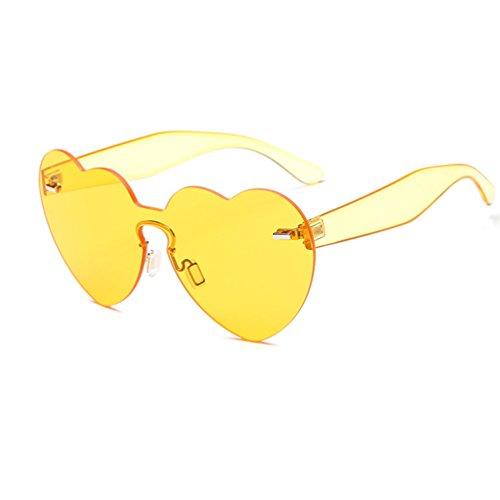 Armear Heart Sunglasses for Women Oversized Rimless