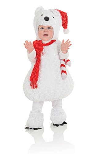 (Underwraps Baby Christmas Polar Bear Costume, White/Red,)