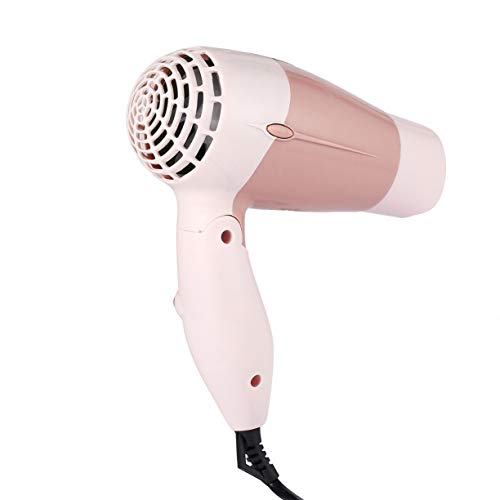 Mini Portable Foldable Handle Compact 1000W Hair Dryer Blow Dryer Hot Wind Low Noise Long Life for Outdoor Travel by Detectoy (Image #4)