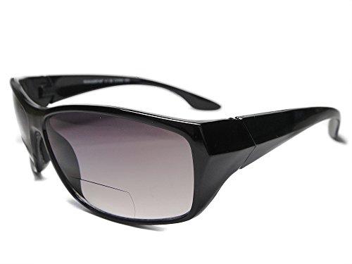 European Design Sun Readers Bi Focal Reading Sunglasses (Black, ()
