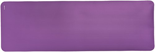 Large Product Image of AmazonBasics 1/2-Inch Extra Thick Exercise Mat with Carrying Strap, Purple