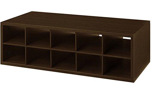 Organized Living freedomRail 8-Cubby Shoe Storage OBox - Chocolate Pear (White Chocolate Pear)