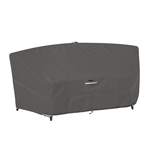 Classic Accessories Ravenna Deep Seated Patio Curved Modular Sectional Sofa Cover - Premium Outdoor Furniture Cover with Durable and Water Resistant Fabric (55-714-015101-EC) (Outdoor Round Sectional Furniture)