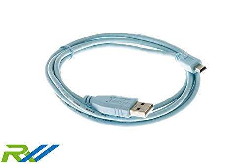 (Cisco Compatible Console Cable 6 Feet with USB Type A and mini-B Connectors CAB-CONSOLE-USB=)