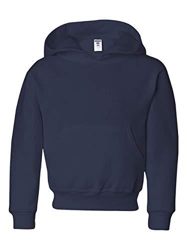Jerzees boys NuBlend Hooded Pullover Sweatshirt(996Y)-J NAVY-M