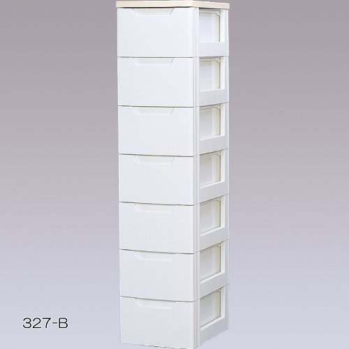 収納家具 7段 チェスト/収納ボックス リビング収納 最適 木天板付き チェスト!!!! クローゼット/押入れ 衣類収納 ケース ホワイト/ペアー 7段 ... B00YO5J7RE