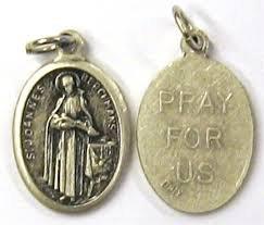 5pc-lot-catholic-patron-saints-loose-medals-charms-1-oval-oxidized-silver-st-john-berchmans