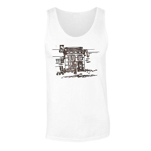 Neues Handgezeichnetes Haus Herren Tank top l459mt