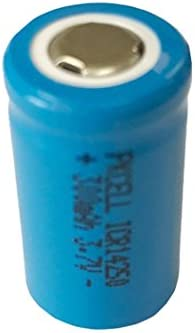 3.7V Rechargeable 1/2AA Lithium ion Battery icr14250 300mAh Count : (2)