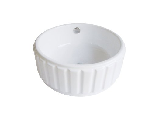 - Kingston Brass EV7129 Fauceture Forum Vitreous China Bathroom Vessel, White