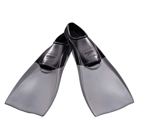 Speedo Rubber Swim Training Fins - XL (W 11-12 / M 10 -11) - Black
