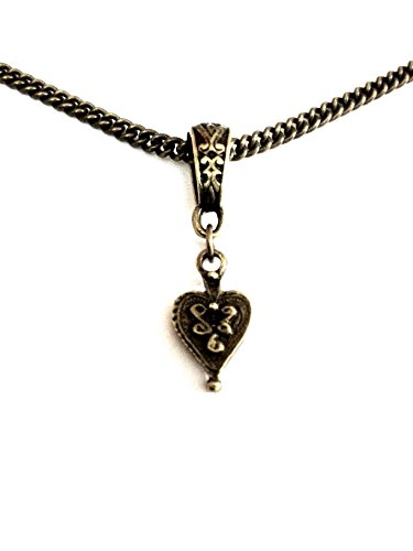 Vintage Heart Bronze Necklace - 8th Wedding Anniversary / Birthday - Wrapped & Gift Boxed