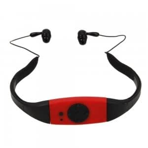4GB Sport Splash Proof MP3 Player with FM Function Red