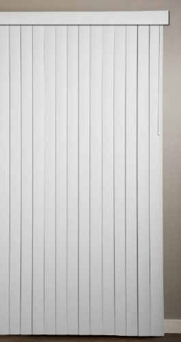 Achim Home Furnishings Vertical Blinds, 104-Inch by 84-Inch, Ribbed White (84in Vertical Blinds)