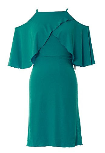 Shoulder Off Short Dress Gown Cocktail Women Bridesmaid MACloth Party Teal Wedding EqCxwZpR