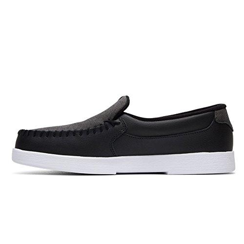 DC Men's Villain TX Slip-On Skate Shoe Black/White/Black free shipping for cheap outlet genuine quality free shipping iDwWvU