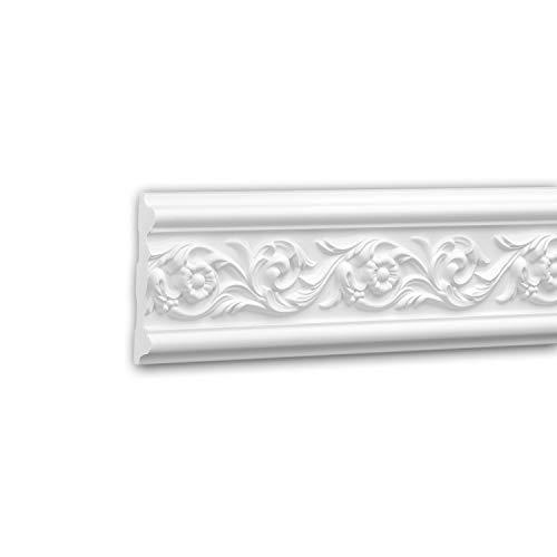 Panel Moulding 151320 Profhome Dado Rail Decorative Moulding Frieze Moulding Rococo Baroque Style White 2 m ()