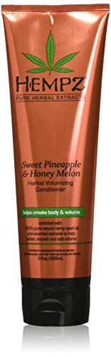 Hempz Sweet Pineapple and Honey Melon Herbal Volumizing Conditioner for Color-Treated Hair, 9 oz. – Restorative…