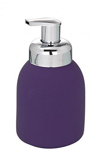 WENKO espuma de - cerámica con revestimiento Soft-Touch - lila - dispensador de jabón líquido - líquido dispensador de lado - de espuma de jabón: Amazon.es: ...