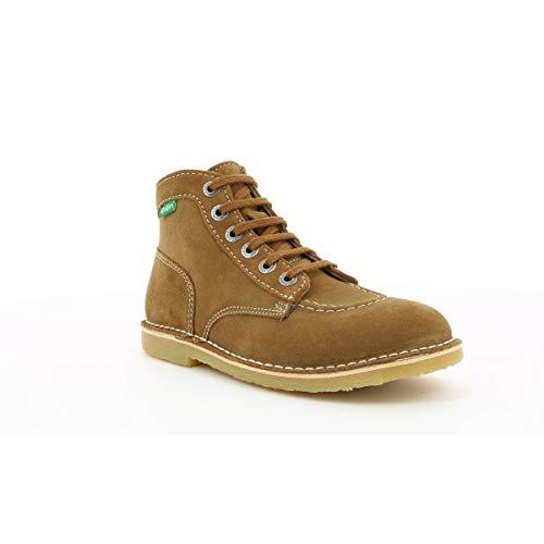Zapatos Cordones De 114 Perm Mujer Marrón Kickers Orilegend Derby Para camel PAt4Swq5