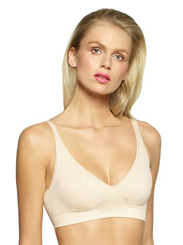 - Felina | Seamless Wire-Free Bra | Comfort | Support | Shape (Small, Warm Nude)