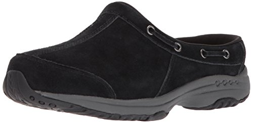 Easy Spirit Womens Travelport26 Mule In Camoscio Nero