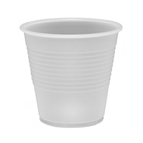 Dart 5N25, 5-Ounce Conex Translucent Polystyrene Cup, Disposable Cold Beverages Drinks Plastic Cups (100) -