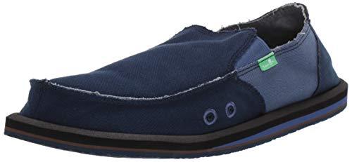 Sanuk Men's Vagabond Hemp Loafer Flat Navy/Indigo 7 M US