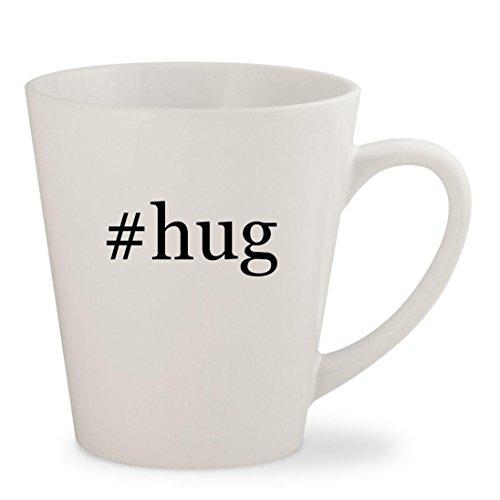 #hug - White Hashtag 12oz Ceramic Latte Mug - Girl Spot Instagram Me