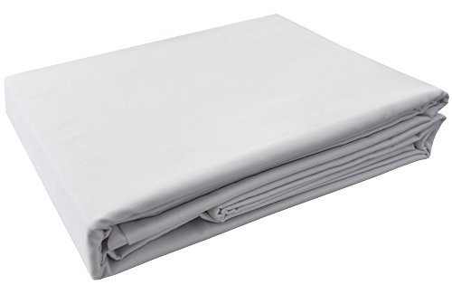 PHF Hotel Collection Flat Sheet 200T Cotton Polyester Percale 1 Piece King Size White by PHF
