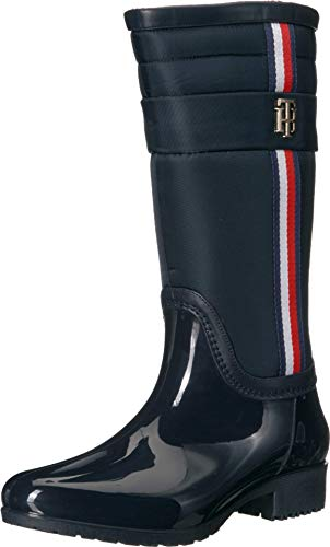 Tommy Hilfiger Women's FROZ Rain Boot, Navy, 7 M US