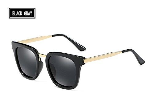 dibujo del de sol Unisex gafas Piazza black TL hombres D'epoca brown metal mujeres de polarizadas Sunglasses del gray IY6qY8wxO