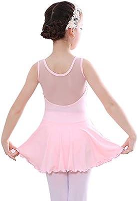 Bezioner Niña Vestido de Ballet Maillot de Danza Gimnasia Clásico ...