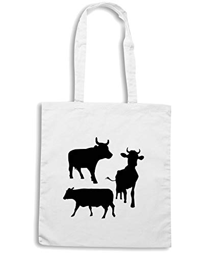 Speed Shirt Borsa Shopper Bianca WES0524 COW SILHOUETTES