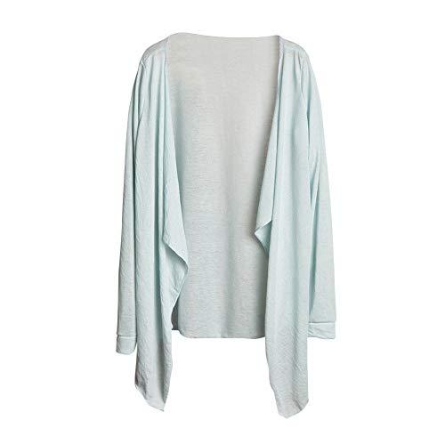 Manteau Sun Hauts De Long Femme D'hiver Mode Lâche Modale Clair Vêtements Protection Et Femmes Honestyi Mince Bleu Cardigan 1 rqwr7Ixt8