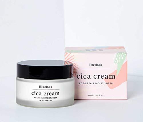 3147z DVLTL - Meebak Cica Face Cream Moisturizer 1.7oz, Anti-Aging, Anti-Wrinkles Natural Day Cream and Night Cream